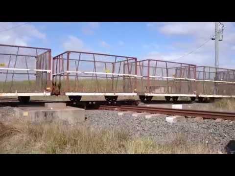 A Drawbridge Crossing for 2 Trains