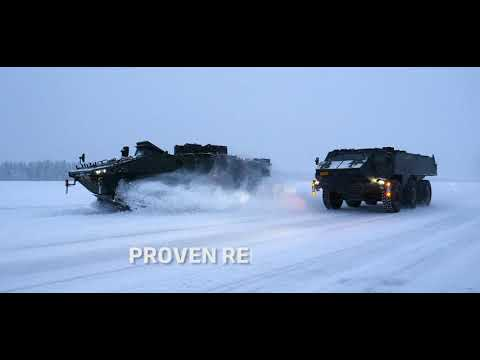 Patria XP and 6x6 Winter testing in Lapland, Patria AMV product family