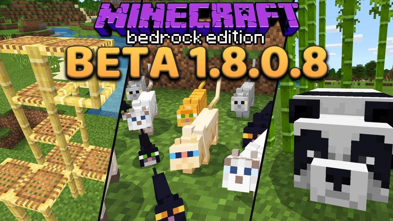 Minecraft 1 14 Preview: Pandas, Bamboo, Cats & Scaffolding (Bedrock Beta  1 8 0 8)