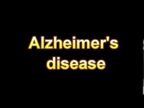 What Is The Definition Of Alzheimer's disease (Medical Dictionary Online)