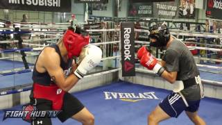 Heated Sparring! Josesito Lopez vs Misael Rodriguez at RGBA!