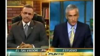 MAURICIO FUNES dando clases de PERIODISMO Y POLITICA a JORGE RAMOS de UNIVISION