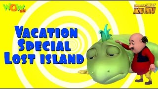 Motu Patlu Cartoons In Hindi |  Animated cartoon | vacation special lost island | Wow Kidz