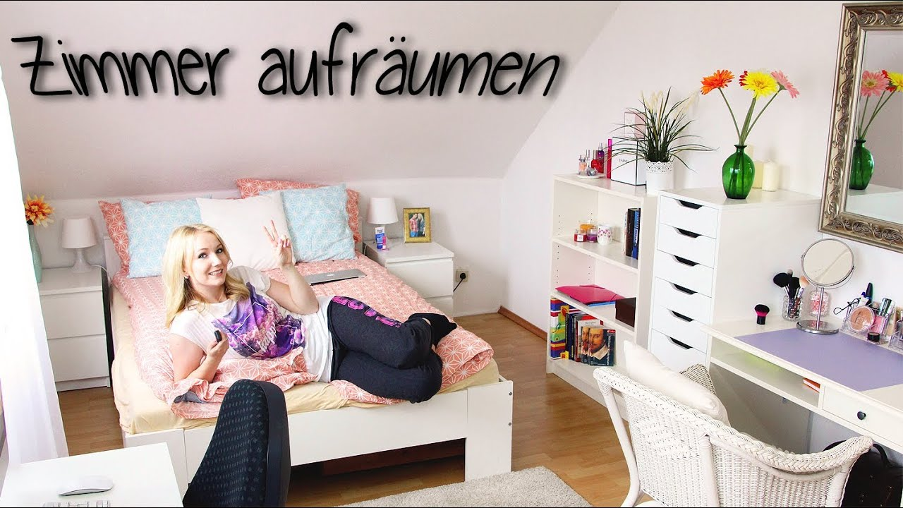 zimmer aufr umen 10 tipps meine routine youtube. Black Bedroom Furniture Sets. Home Design Ideas