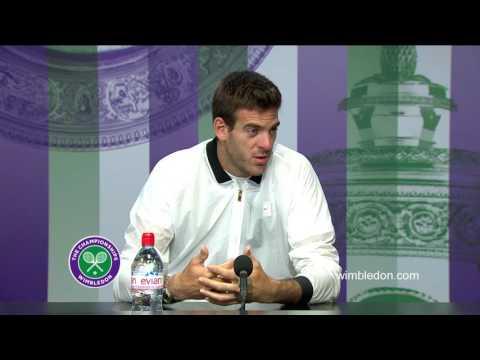 Juan Martin Del Potro second round press conference