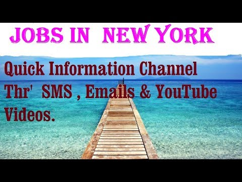 Jobs in  NEW YORK   City  for freshers & graduates. industries, companies. USA.  AMERICA