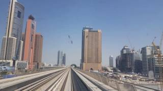 Ride on thee Dubai metro , Danube to Burj Khalifa