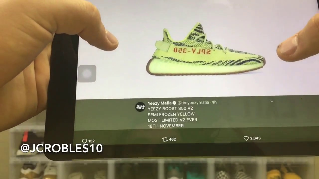 71130a60b ... aliexpress yeezy boost 350 v2 semi frozen yellow confirmed 9d97b a4688