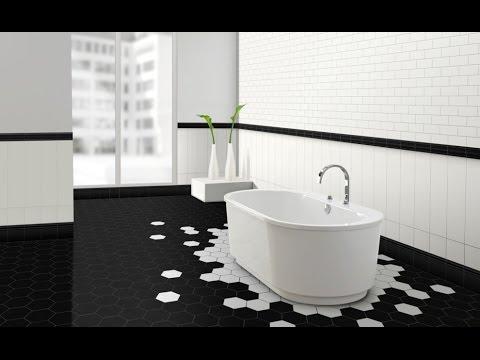 Черно-белая ванная комната (35 фото)