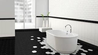 видео Ванная в черно-белом цвете