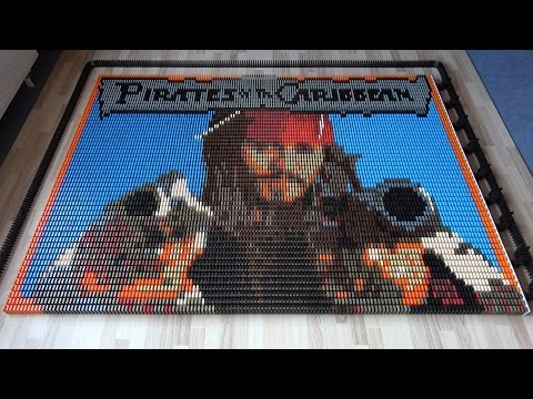 Thumbnail: Pirates of the Caribbean: Dead Men Tell No Tales (18,000 Dominoes)