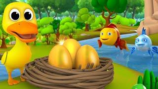 Golden Eggs Duck Story - बत्तख़ के सोने के अंडे हिन्दी कहानी 3D Kids Fairy Moral Stories | Cartoons