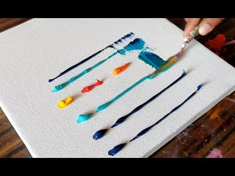 Sail Boats / Abstract Painting / Art Demonstration / Easy & Relaxing / Project 365 days / Day #0359