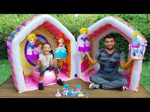 Öykü'nün Prensesleri - Pretend Play w / Giant Indor Inflatable  Playhouse Kids Toy - Oyuncak Avı