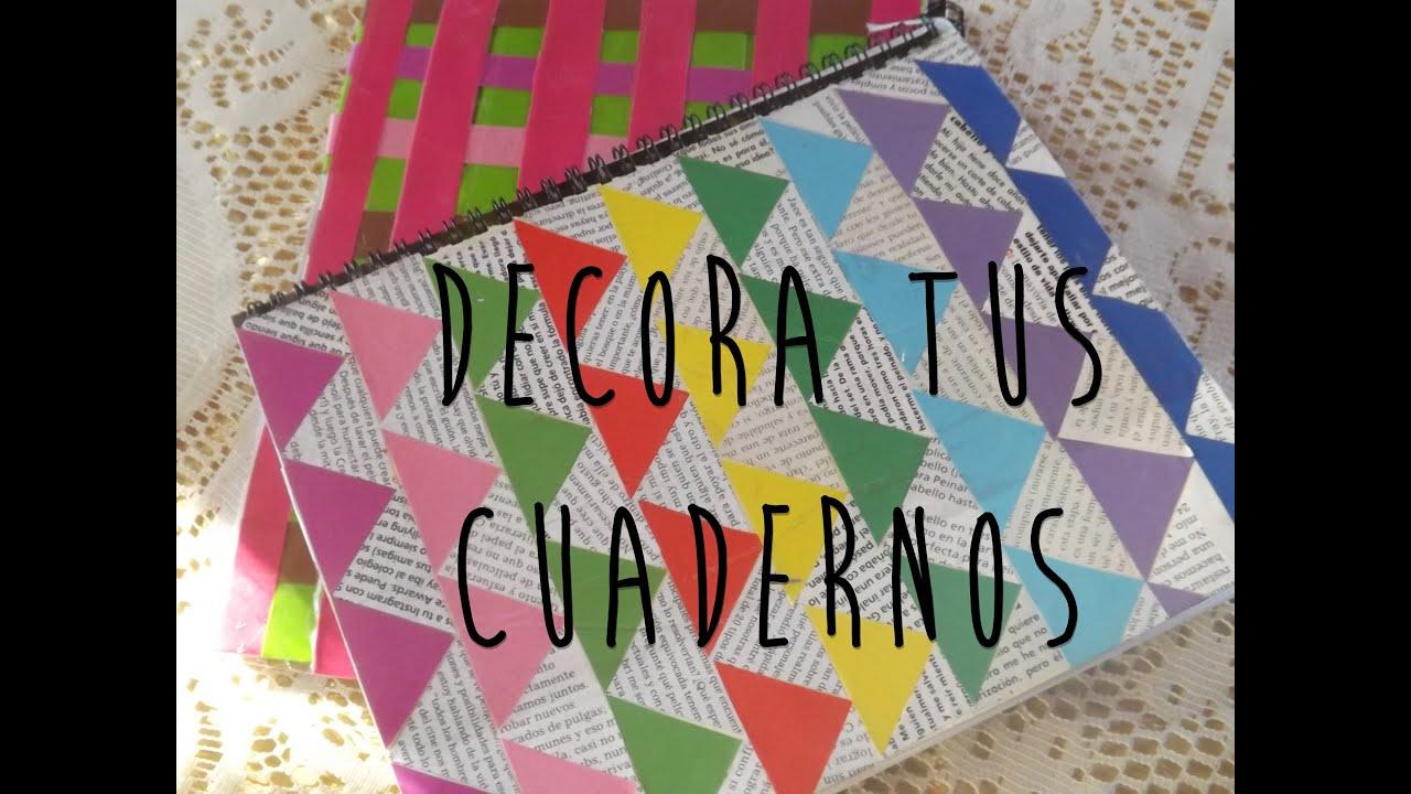 Diy ideas para decorar tus cuadernos super faci youtube - Ideas para decorar ...