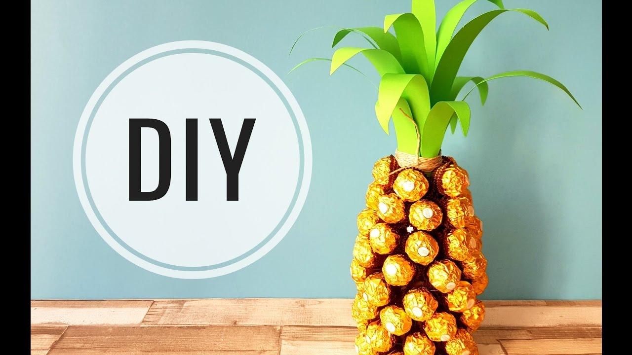 DIY prezent ananas ananas geschenk  YouTube