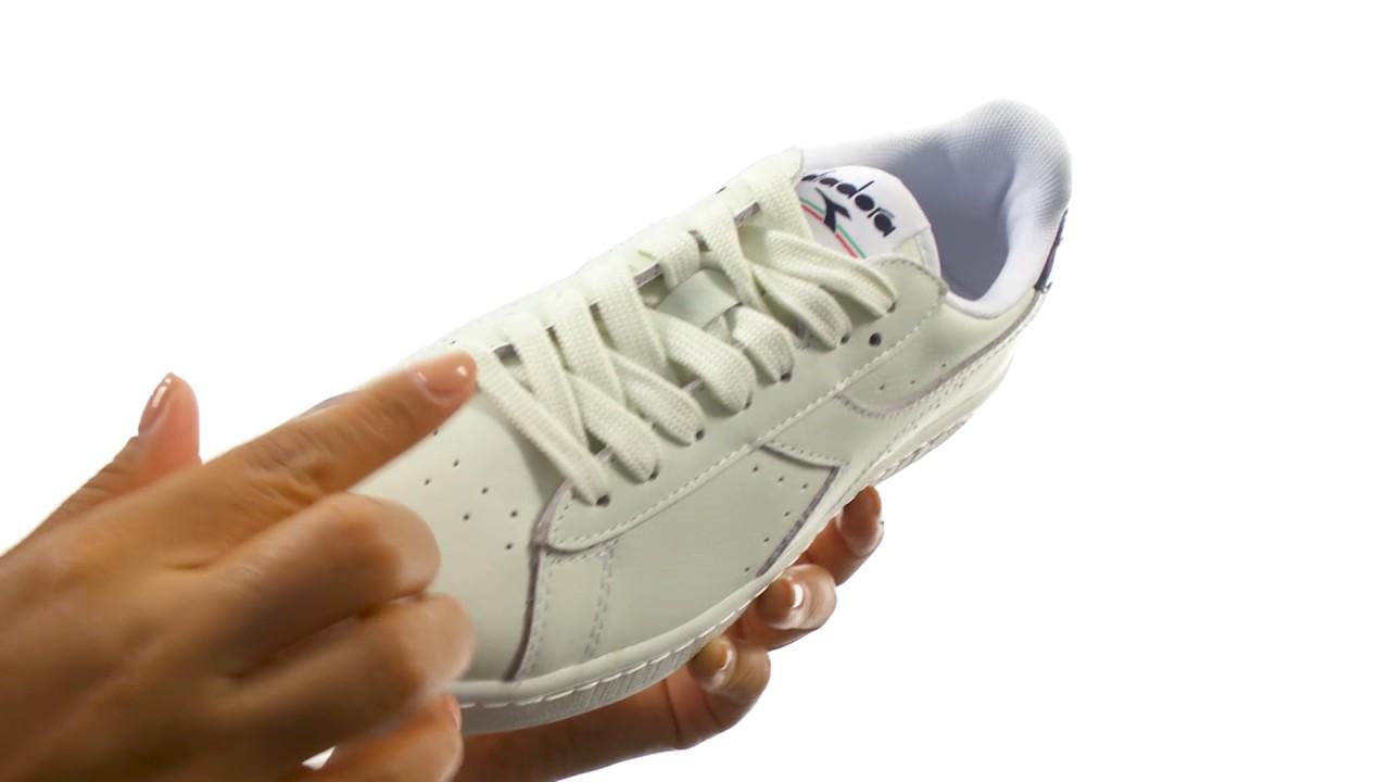 Diadora Mens Game L Low Waxed Court Shoe