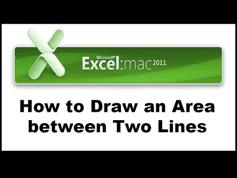 How To Draw The Area Between Two Graphs In Excel Youtube