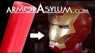 ArmorAsylum - Iron Man foam helmet - raw real time building.
