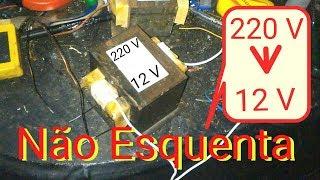 Conversão transformador de microondas para 12 volts (NÂO ESQUENTA)