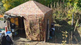 видео: На рыбалку с удобствами. Обзор нашего лагеря.