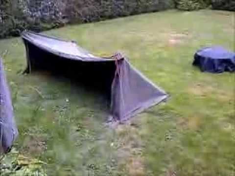 & Canadian ground tarp set up test in a rain storm - YouTube