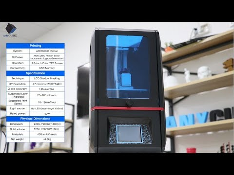 ANYCUBIC Photon---Fully Integrated High Resolution Desktop Resin 3D Printer