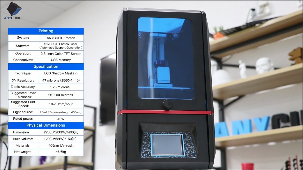 Anycubic Photon Fully Integrated High Resolution Desktop