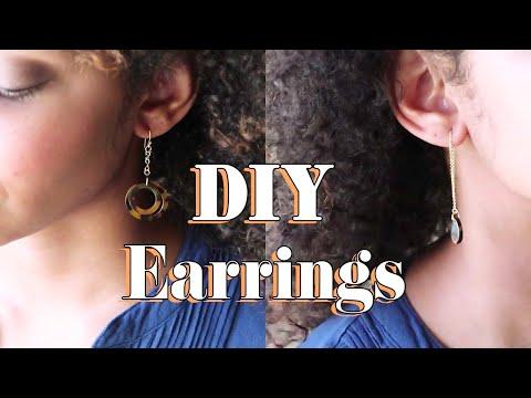 DIY Earrings | Tortoise Shell Earrings