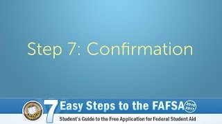 Step 7 - Confirmation