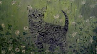 🎨 Как нарисовать котёнка маслом / How to draw a cat with oil
