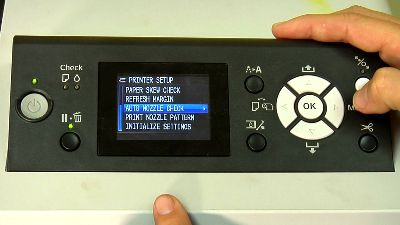 Epson 9700 & 7700 Turning Off The Auto Nozzle Check Feature -