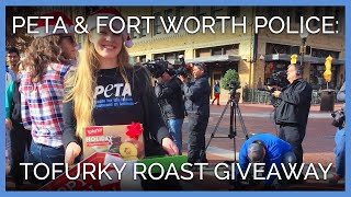 PETA and Fort Worth Police Give Away Free Tof...