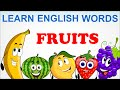 Fruits | Pre School | Learn English Words Spelling For Kids and Toddlers