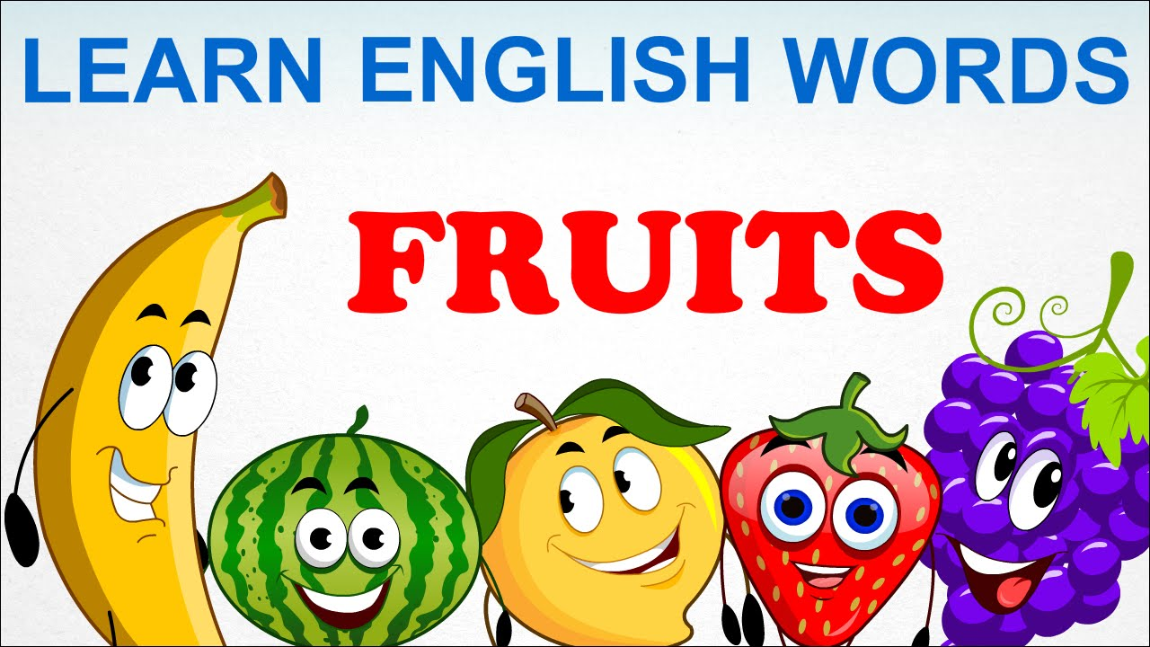 fruits pre learn english words spelling video for