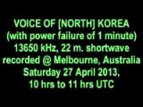 VOICE OF [NORTH] KOREA shortwave 27 April 2013