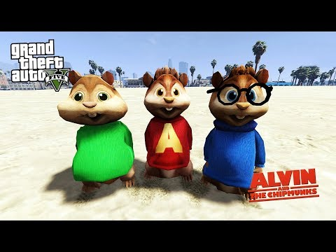 ALVİN VE SİNCAPLAR w/ ALVIN, SIMON & THEODORE (GTA 5 MODS)