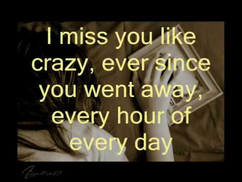 Miss You Like Crazy Lyrics Natalie Cole Youtube