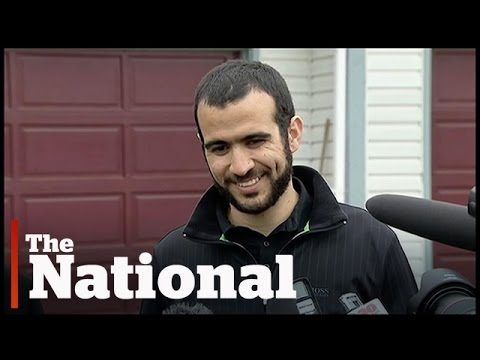 Omar Khadr speaks after being released on bail