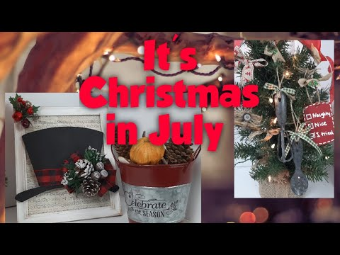CHRISTMAS IN JULY DIY'S | Dollar Tree Christmas Crafts | Friend Friday Hop