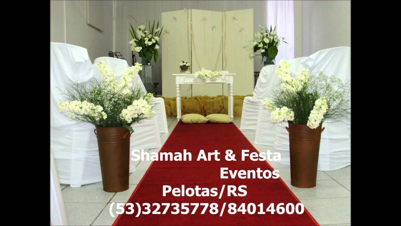 decoraç u00e3o para casamento igreja wmv YouTube -> Decoração Simples Para Festividade De Igreja Evangelica