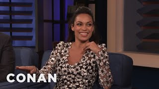 Rosario Dawson On Dating Someone Who's Running For President - CONAN on TBS