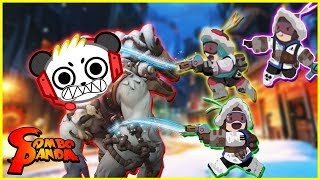 Overwatch Snow Ball Fight Let's Play with Combo Panda
