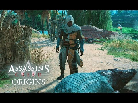 Assassin's Creed Origins - RAIDING A CAMP! INTENSE COMBAT! New Gameplay Walkthrough Free Roam!