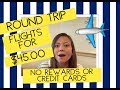 Cheap Flights| Round Trip Flight For 45 Dollars| Flying Spirit Airlines