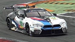 NEW BMW M8 GTE 2019 Testing @ Monza Circuit! - LOUD Backfires & Twin Turbo V8 Sounds!