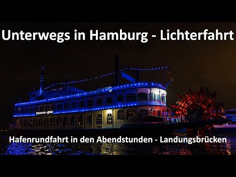 Unterwegs in Hamburg - Lichterfahrt durch den Hamburger Hafen - Landungsbrücken - GoPro 9 Lowlight