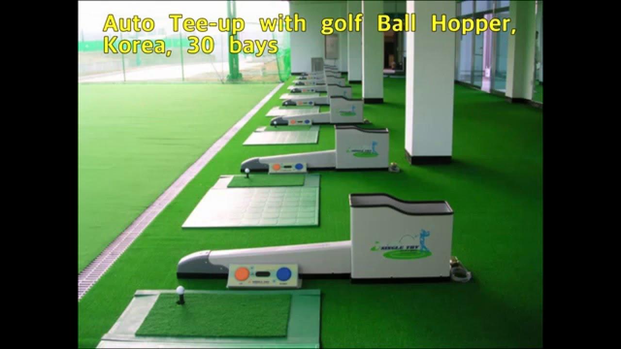 golf ball auto tee up driving range youtube