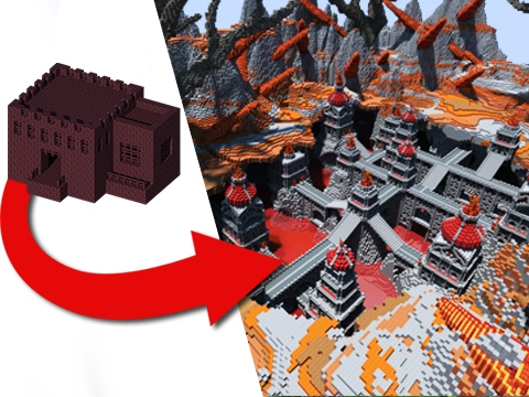 How to transform a nether fortress epic build youtube gumiabroncs Choice Image