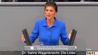 Сара Вагенкнехт: Фрау Меркель вы и ваше преступное правительство это наказание для Германии!